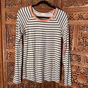Fun striped long sleeve with bright pattern